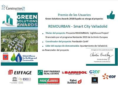 "Green Solutions Awards: the ""User's Choice Award"" goes to …. the City of Valladolid!"