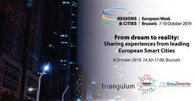 """From Dream to Reality""  Leading Smart City projects to Share Results in Brussels at EU Regions Week 2019"