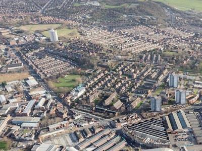 Sneinton district of Nottingham, England, showing the way for a sustainable energy future in Europe
